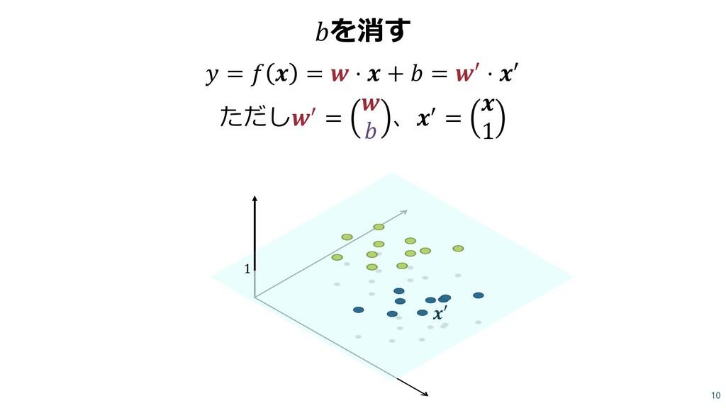 を消す  =   =  ⋅  +  = ′ ⋅ ′ ただし′ =   、′ =  1 10 1...