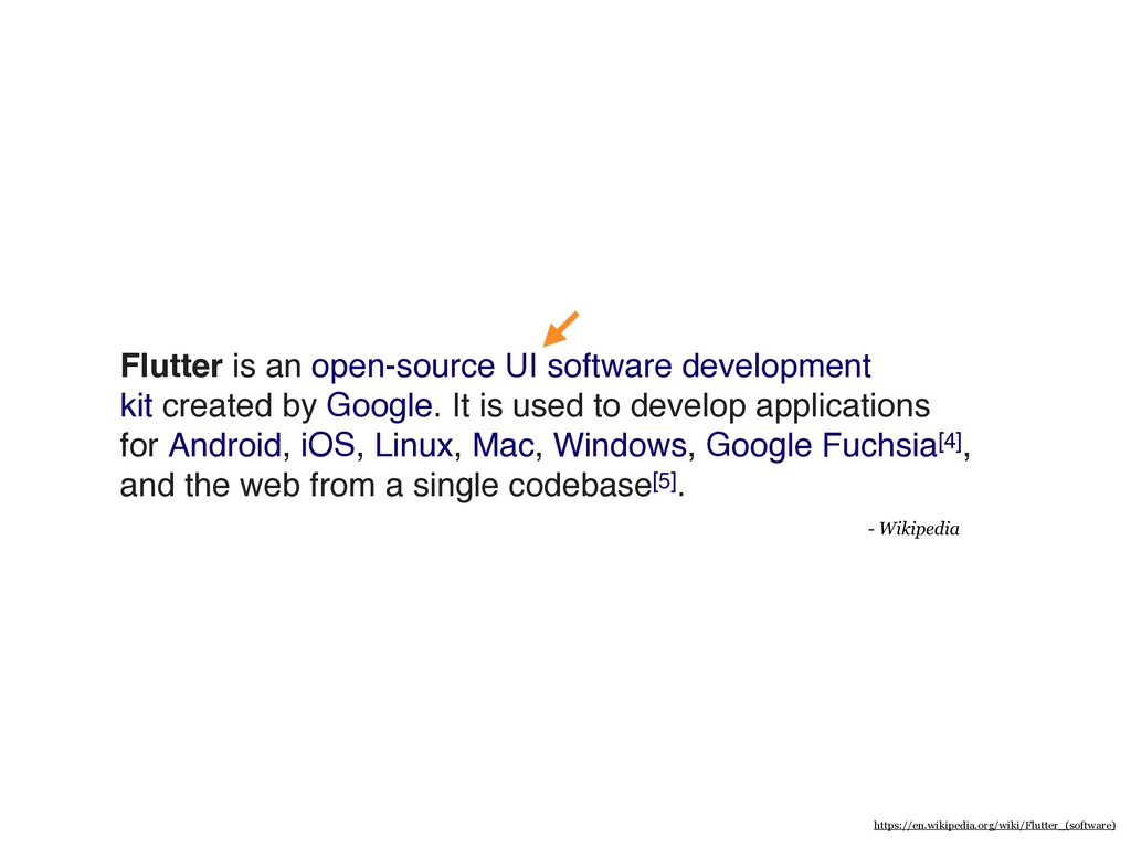 Flutter is an open-source UI software developme...