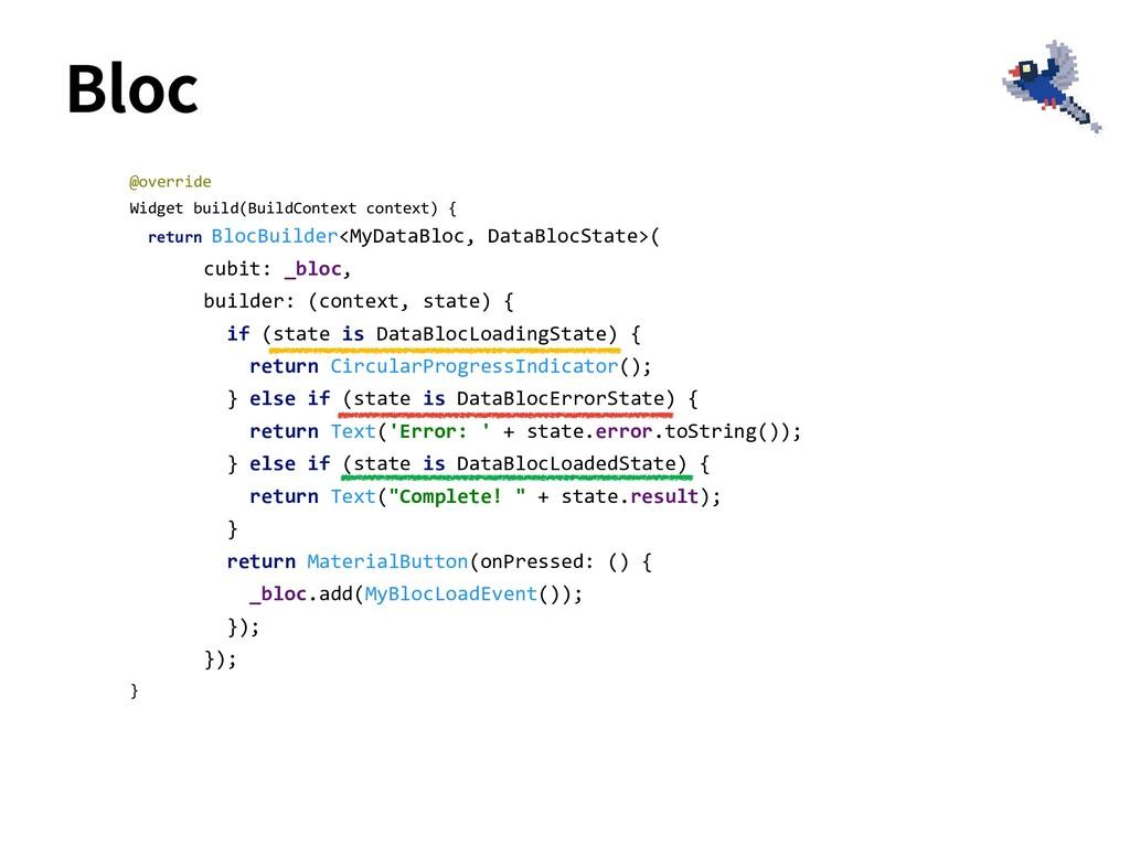 Bloc @override Widget build(BuildContext contex...