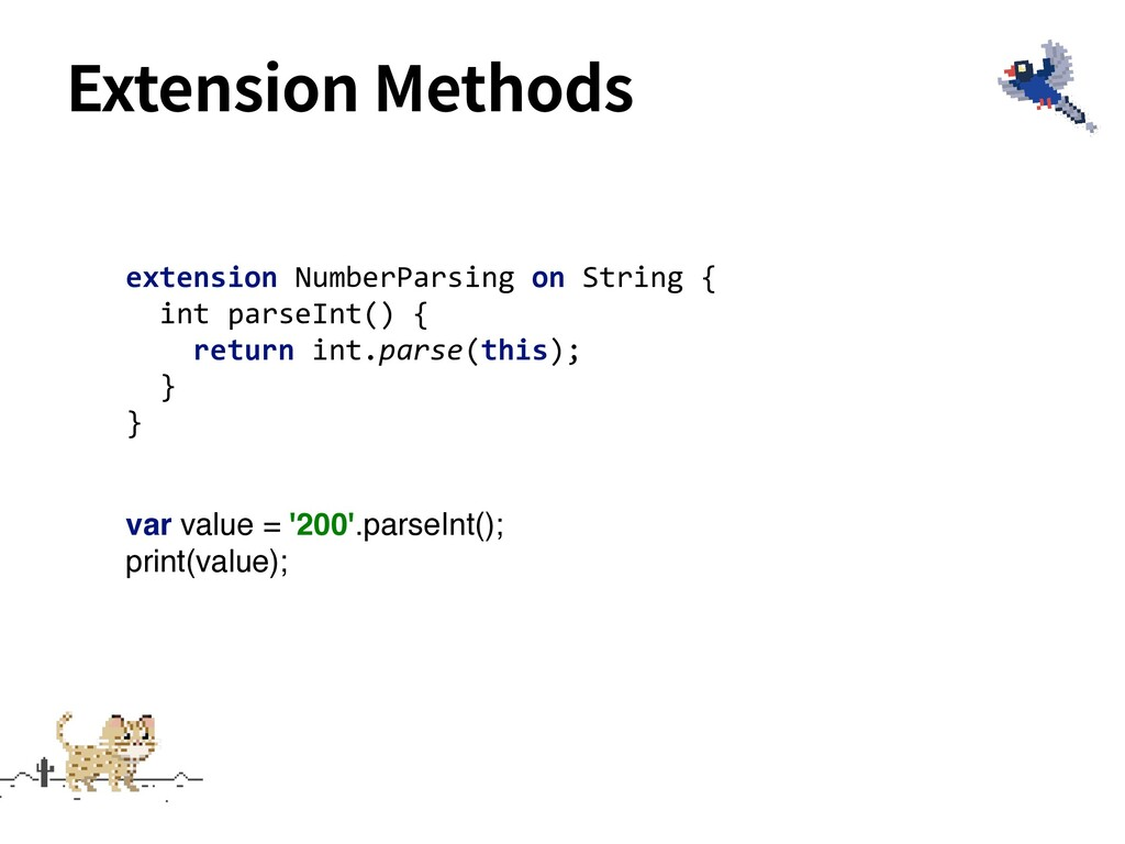 Extension Methods extension NumberParsing on St...