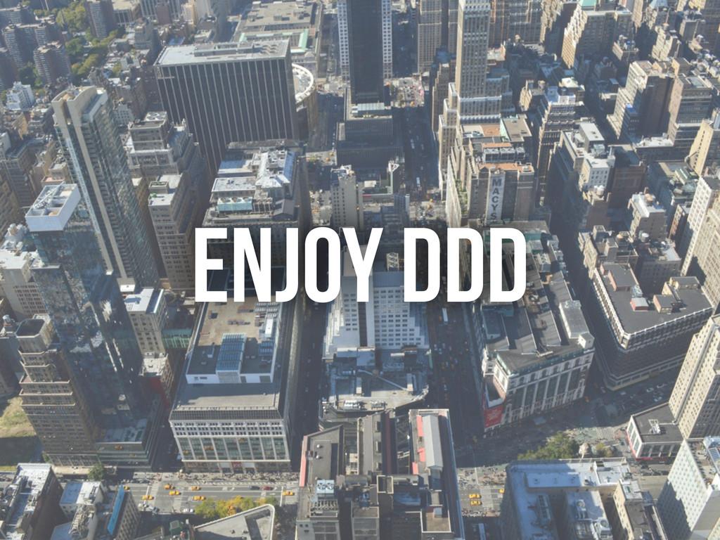 ENJOY DDD