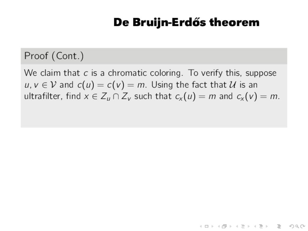 De Bruijn-Erd˝ os theorem Proof (Cont.) We clai...