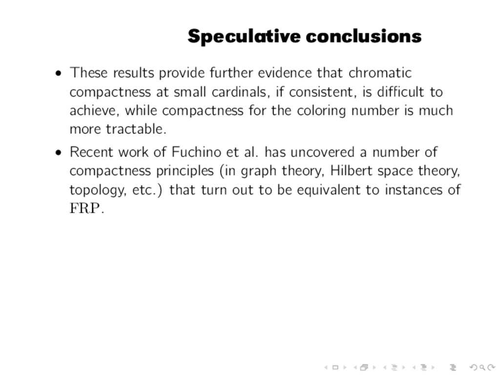 Speculative conclusions • These results provide...