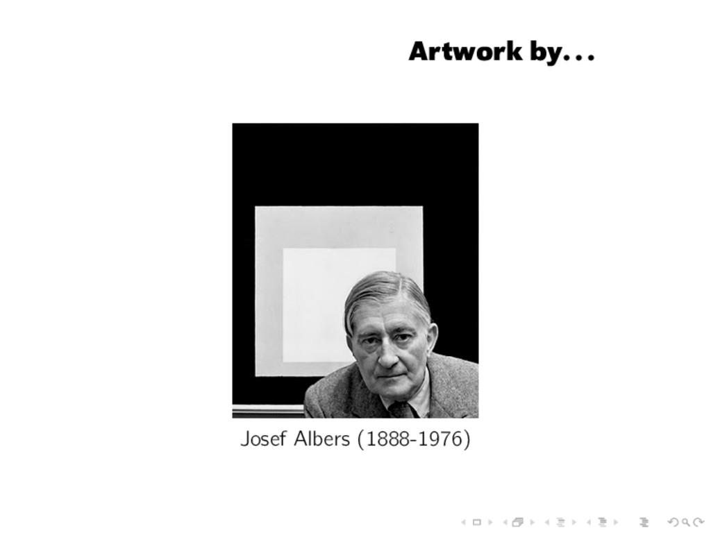 Artwork by... Josef Albers (1888-1976)