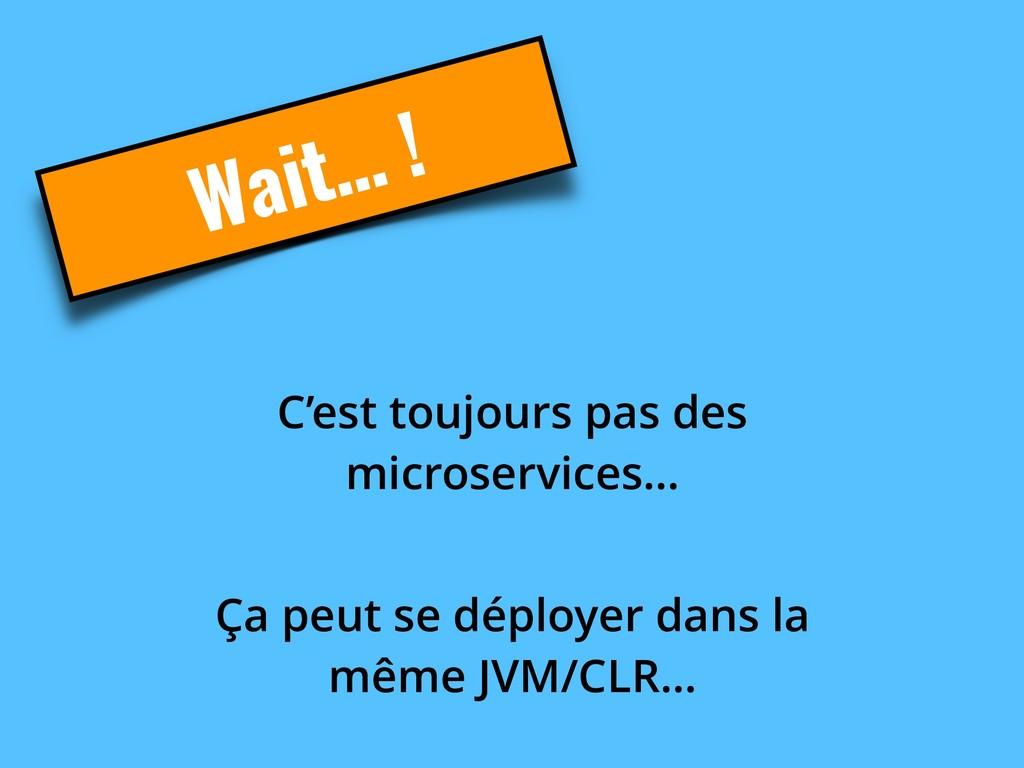 Wait… ! C'est toujours pas des microservices… Ç...