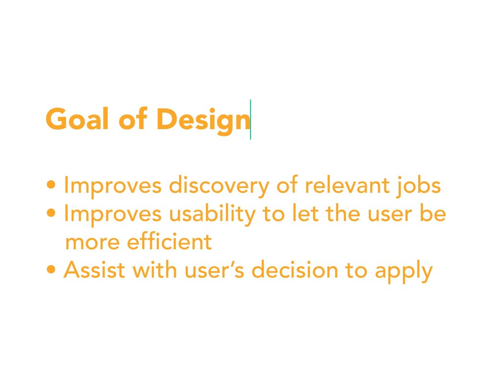 Goal of Design • Improves discovery of relevant...