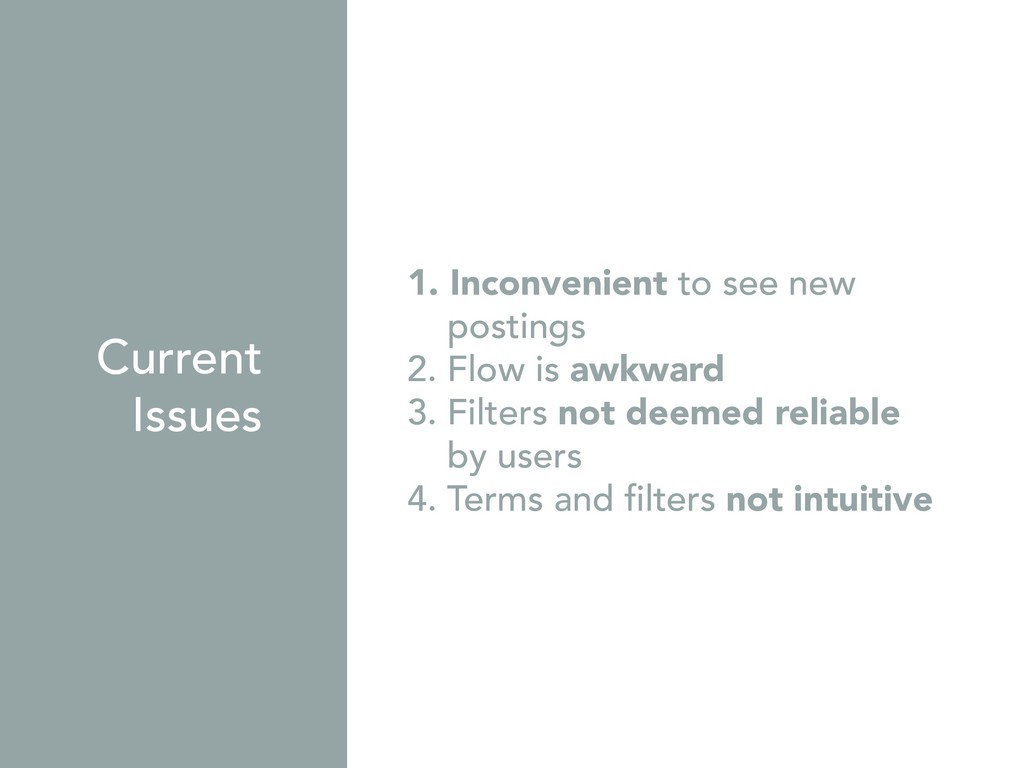 1. Inconvenient to see new postings 2. Flow is ...