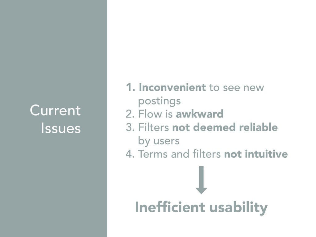 Inefficient usability 1. Inconvenient to see ne...