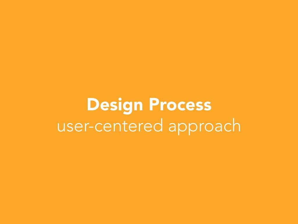 Design Process user-centered approach
