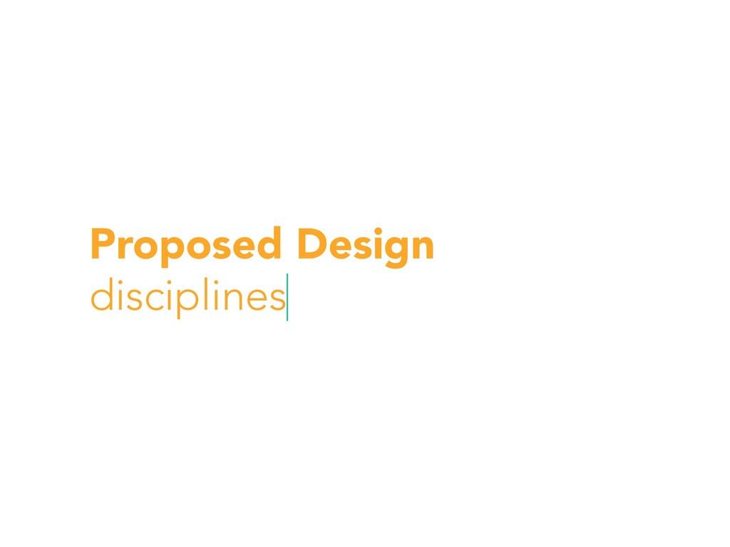 Proposed Design disciplines