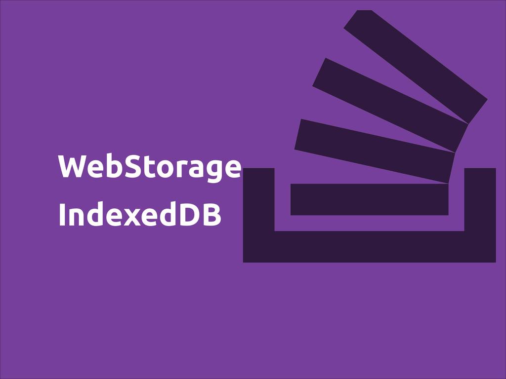 WebStorage IndexedDB