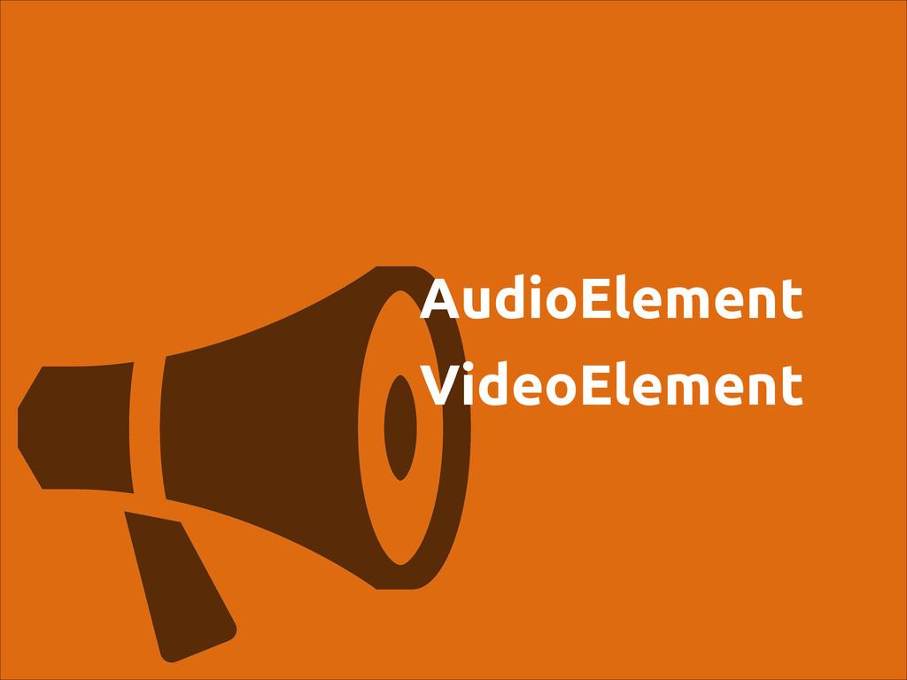 AudioElement VideoElement