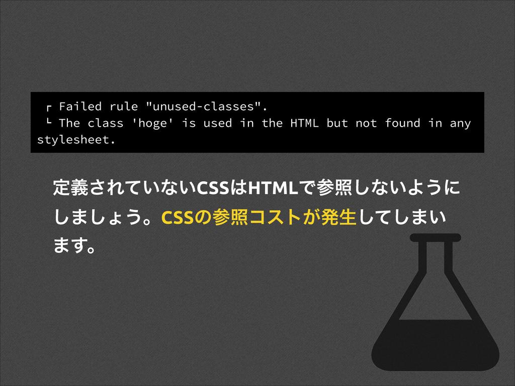 """! Failed rule """"unused-classes"""". """" The class 'ho..."""