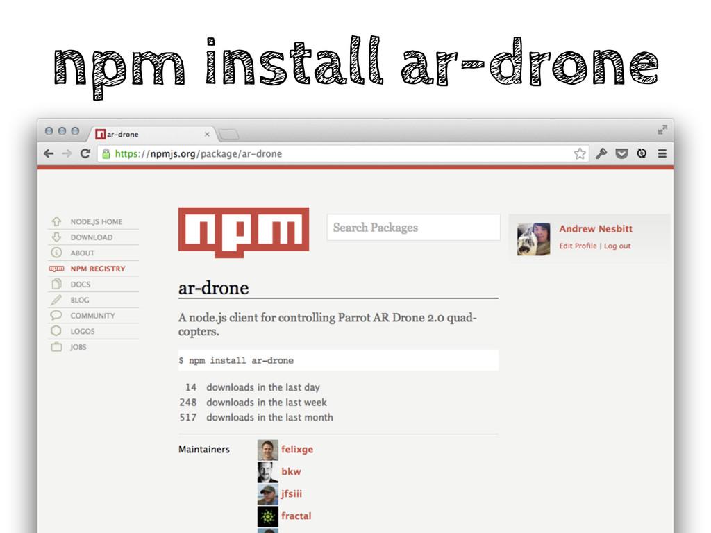 npm install ar-drone