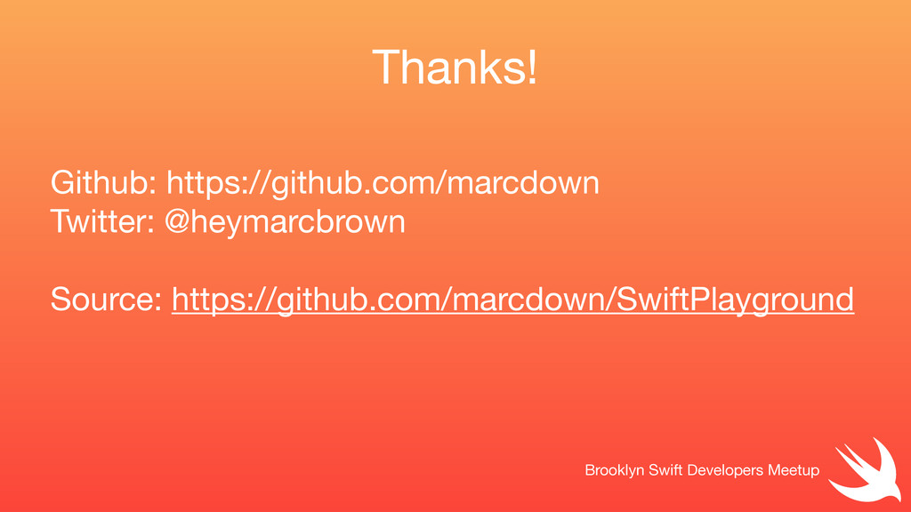 Github: https://github.com/marcdown  Twitter: @...