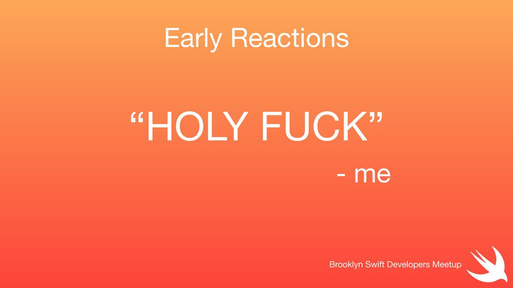 Early Reactions Brooklyn Swift Developers Meetu...
