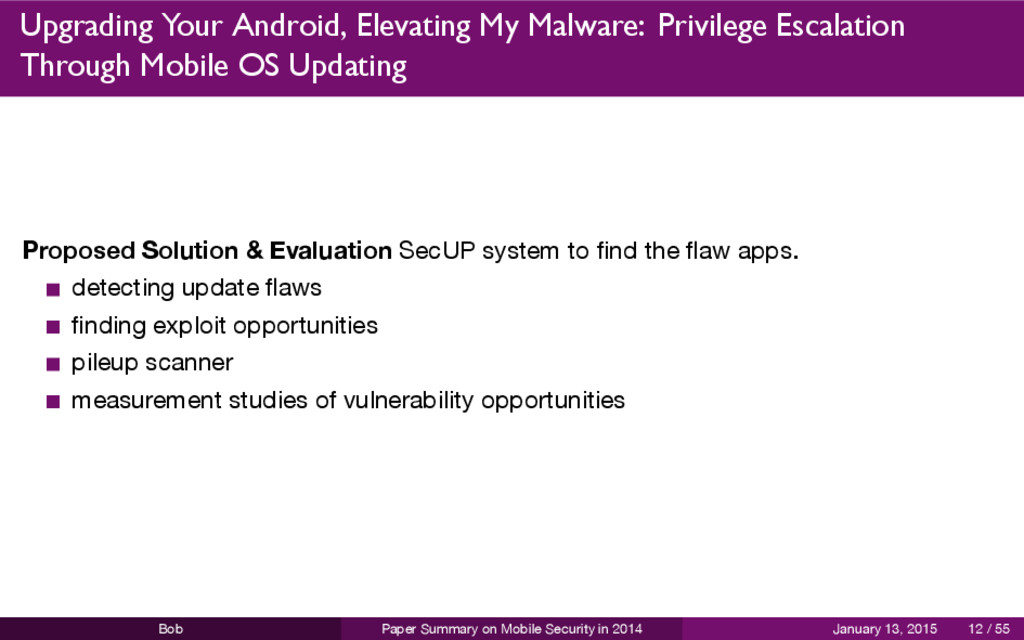 Upgrading Your Android, Elevating My Malware: P...