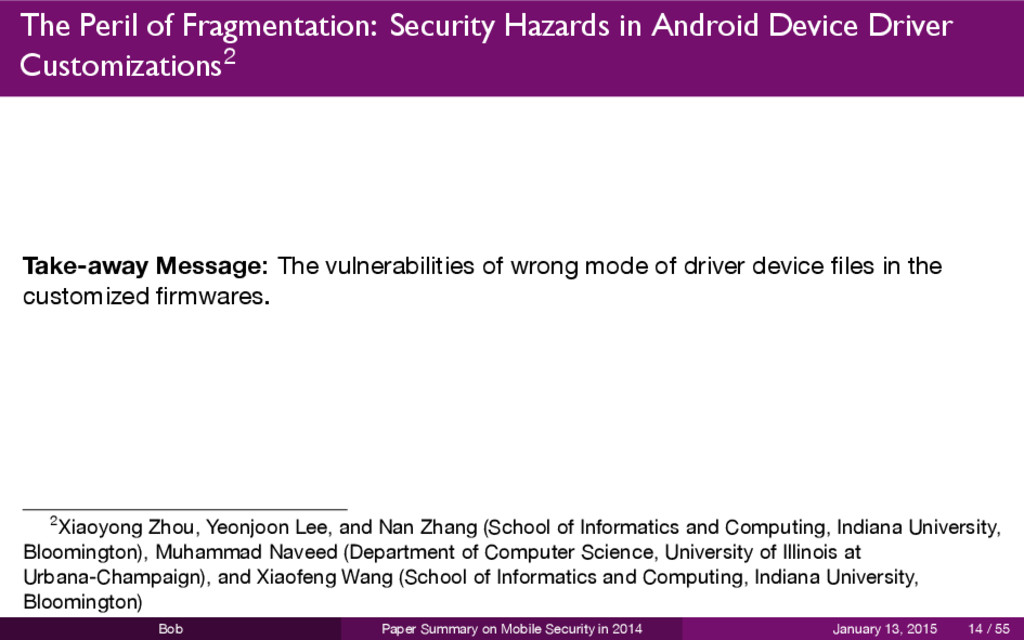 The Peril of Fragmentation: Security Hazards in...