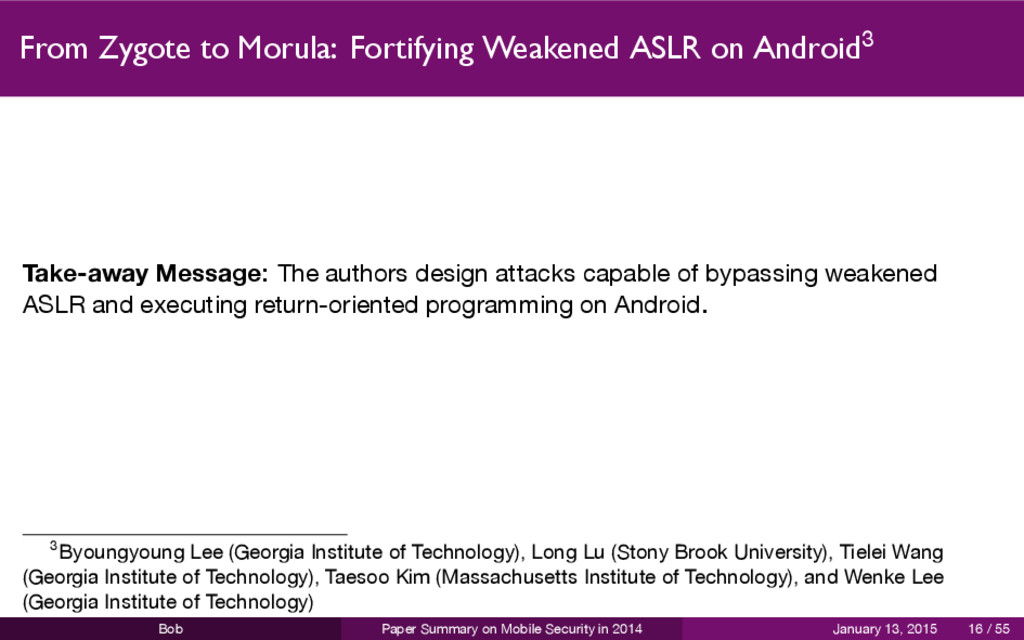 From Zygote to Morula: Fortifying Weakened ASLR...