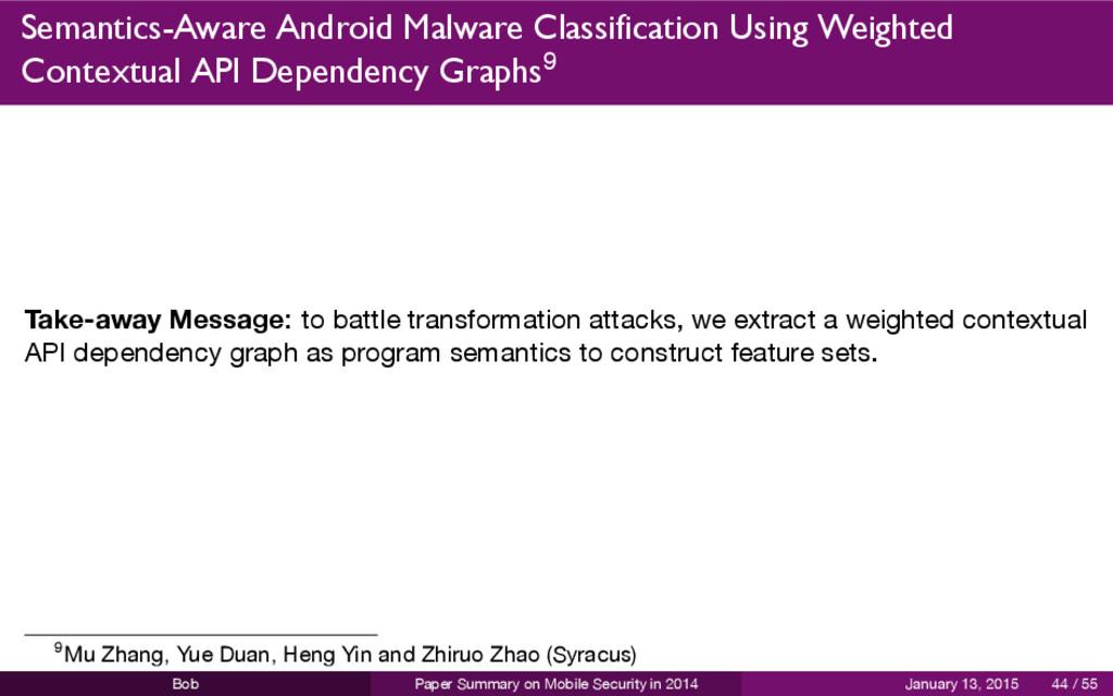 Semantics-Aware Android Malware Classification ...