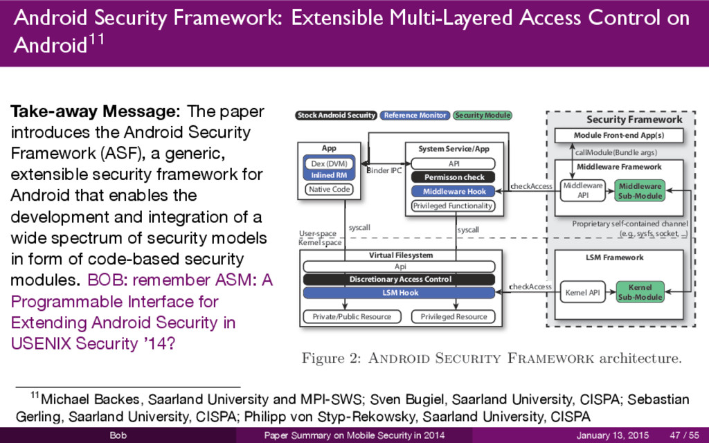 Android Security Framework: Extensible Multi-La...