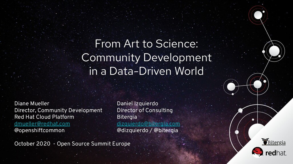 From Art to Science: Community Development in a...