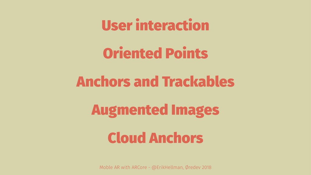 User interaction Oriented Points Anchors and Tr...