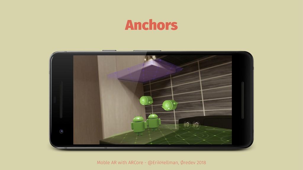 Anchors Moble AR with ARCore - @ErikHellman, Ør...