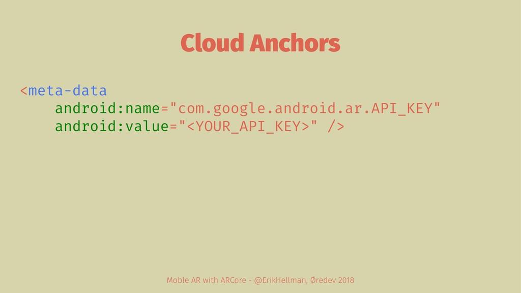 "Cloud Anchors <meta-data android:name=""com.goog..."