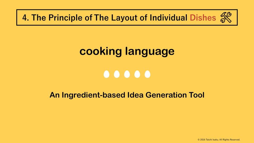 cooking language An Ingredient-based Idea Gener...