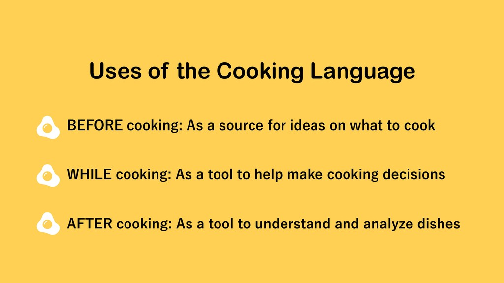"""Uses of the Cooking Language #&'03&DPPLJOH""""T..."""