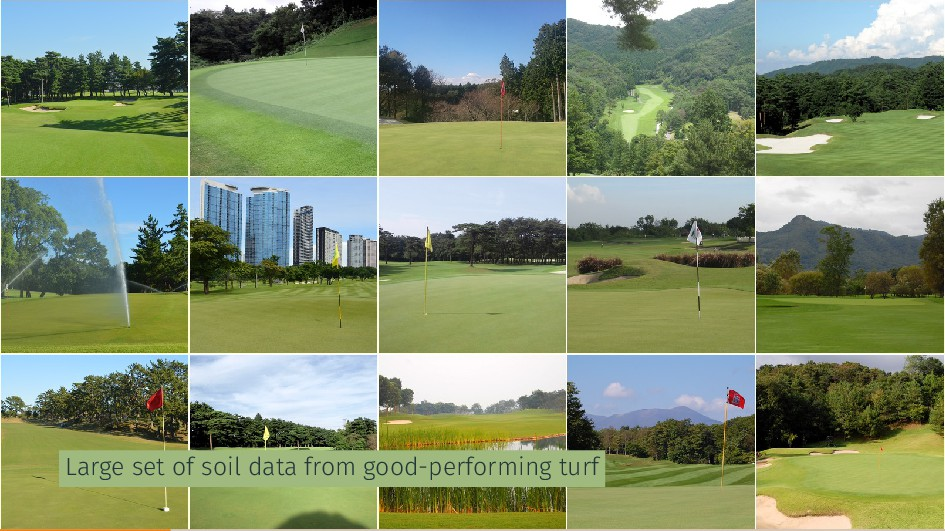 Large set of soil data from good-performing turf