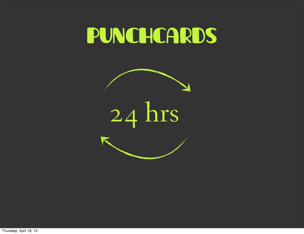 punchcards 24 hrs Thursday, April 18, 13