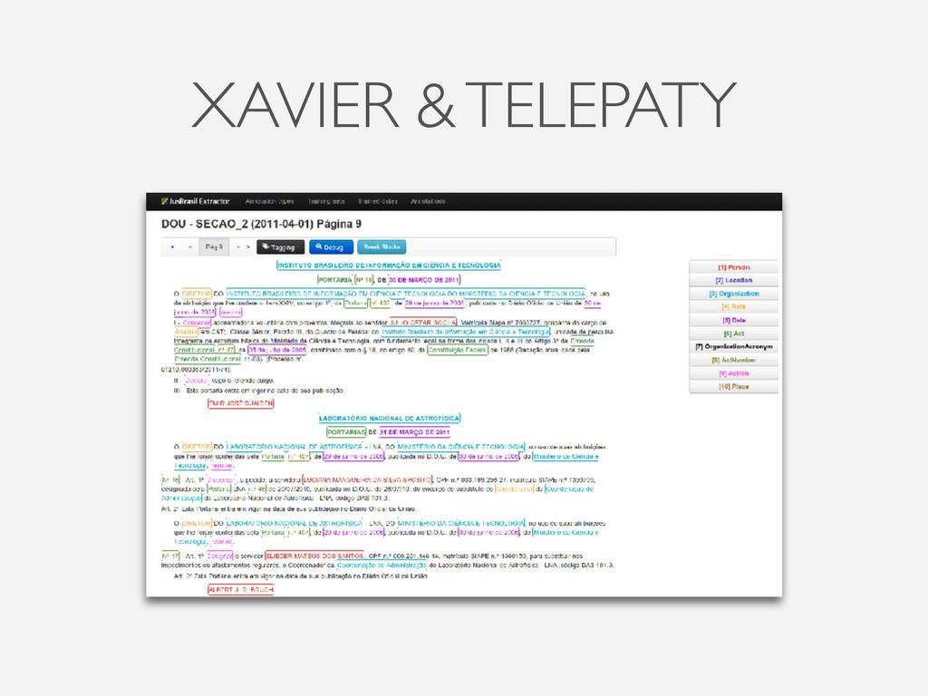 XAVIER & TELEPATY