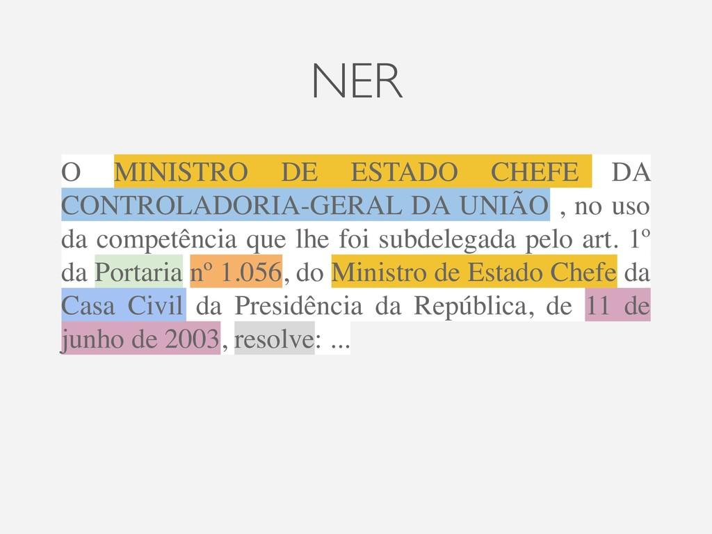 NER O MINISTRO DE ESTADO CHEFE DA CONTROLADORIA...
