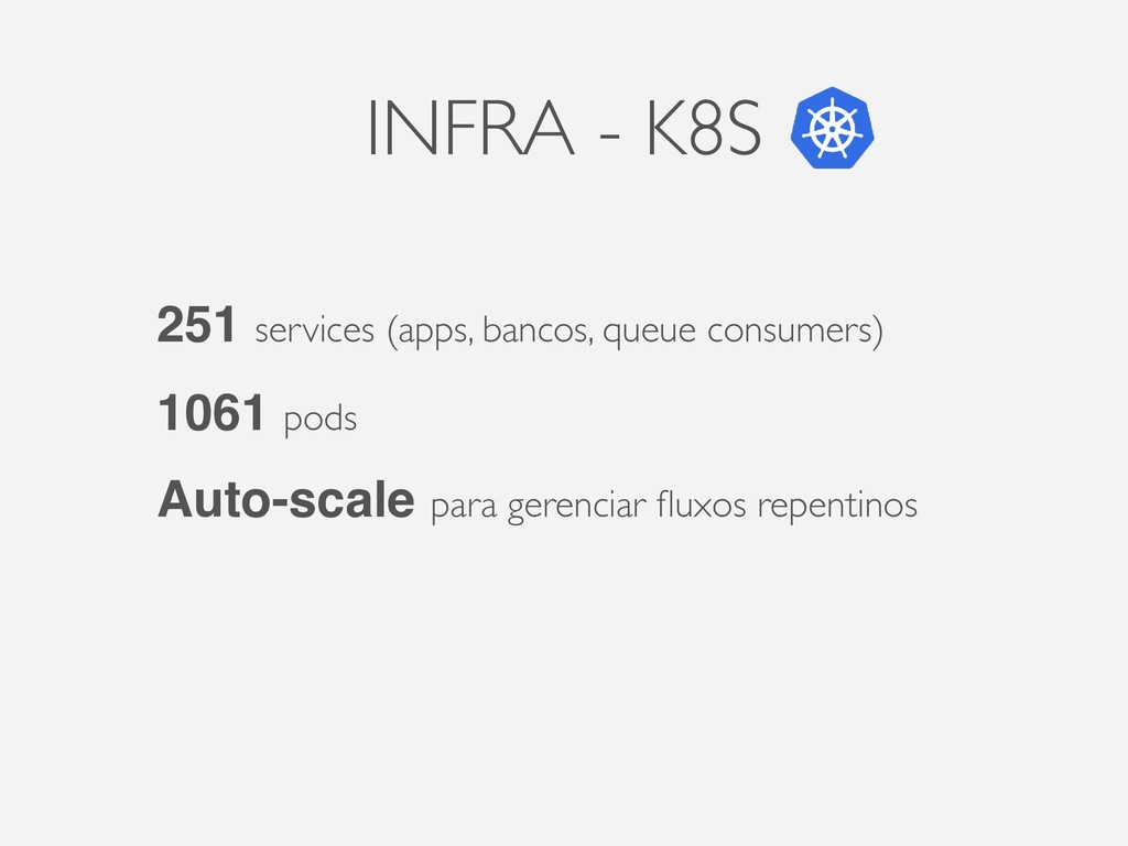INFRA - K8S 251 services (apps, bancos, queue c...