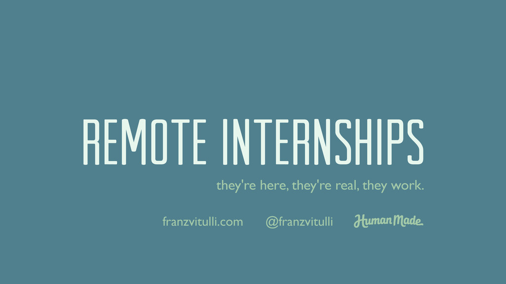 REMOTE INTERNSHIPs they're here, they're real, ...