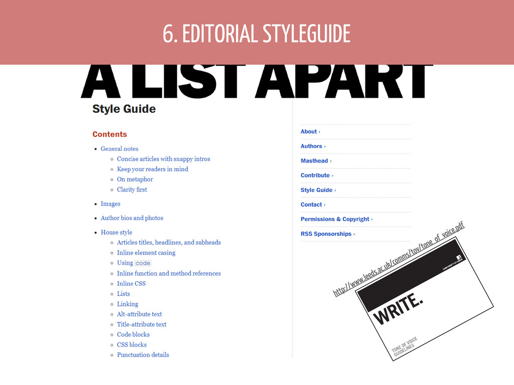 6. EDITORIAL STYLEGUIDE