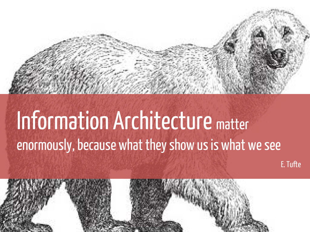 Information Architecture matter enormously, bec...