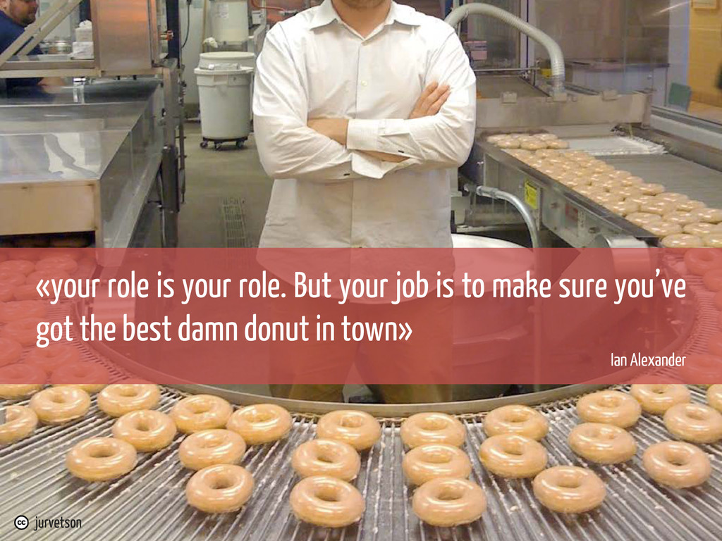 «your role is your role. But your job is to mak...