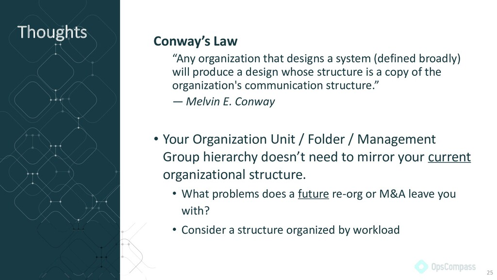 """Thoughts Conway's Law """"Any organization that de..."""