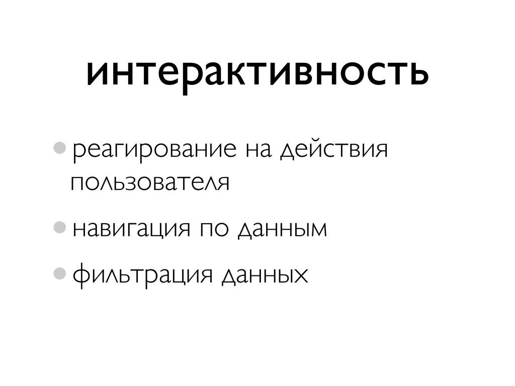 •реагирование на действия пользователя •навигац...