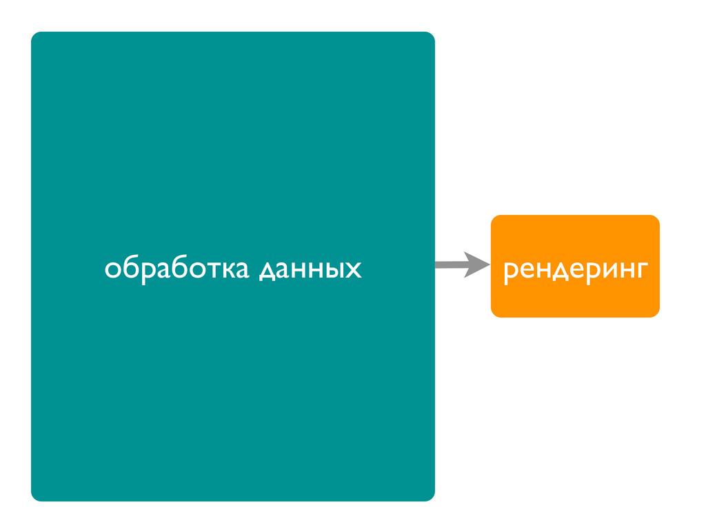 обработка данных рендеринг