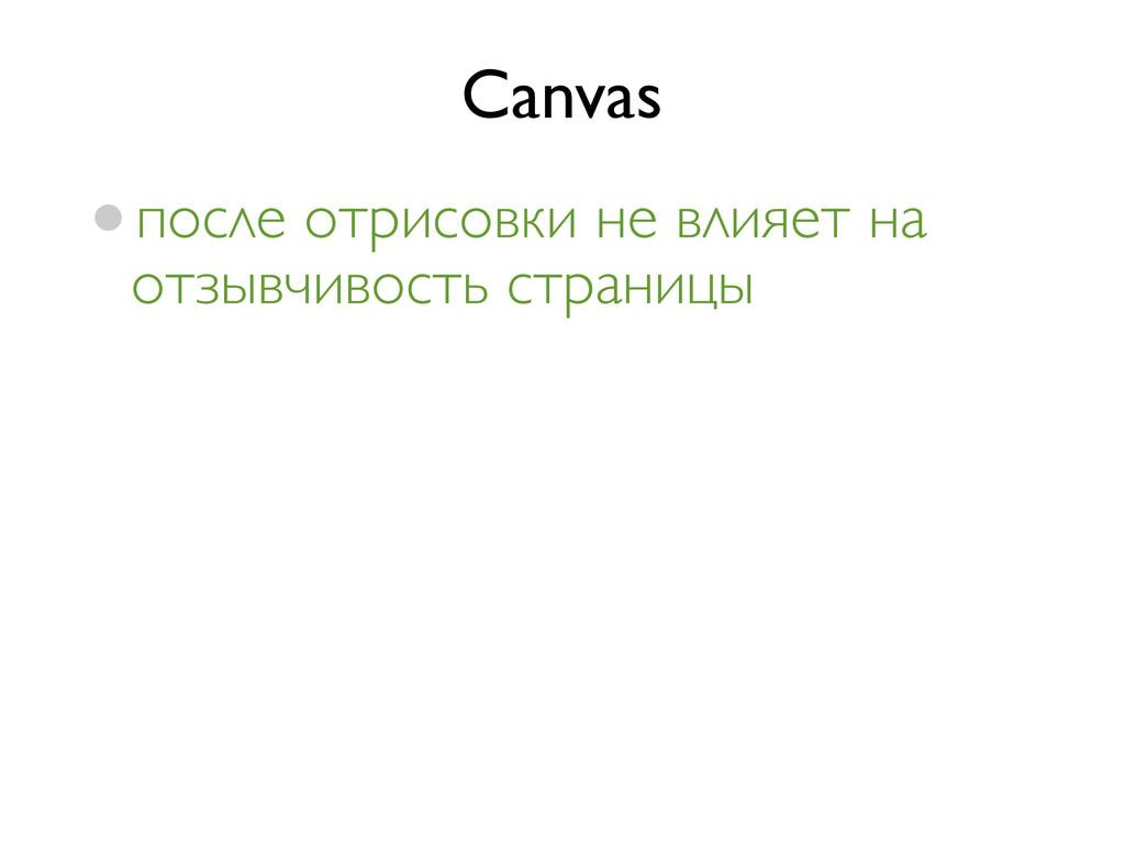 Canvas •после отрисовки не влияет на отзывчивос...