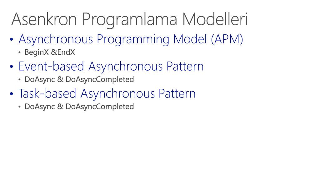 • Asynchronous Programming Model (APM) • Event-...