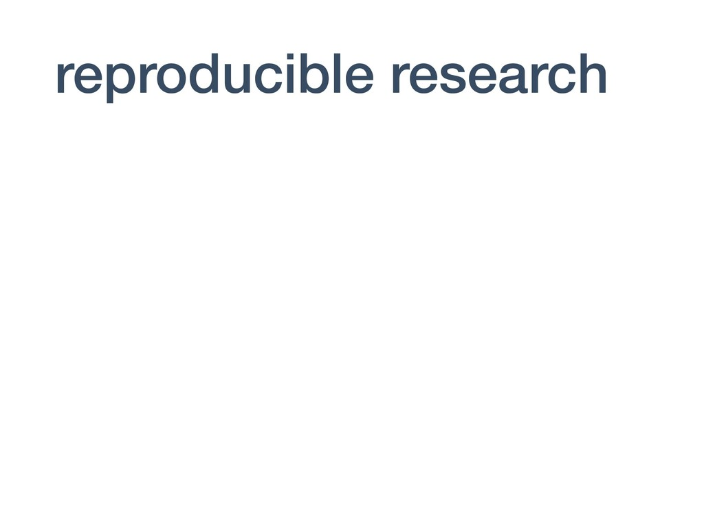 reproducible research