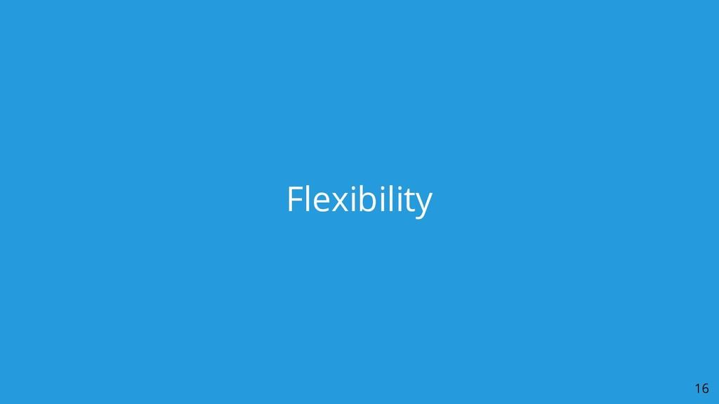 Flexibility 16