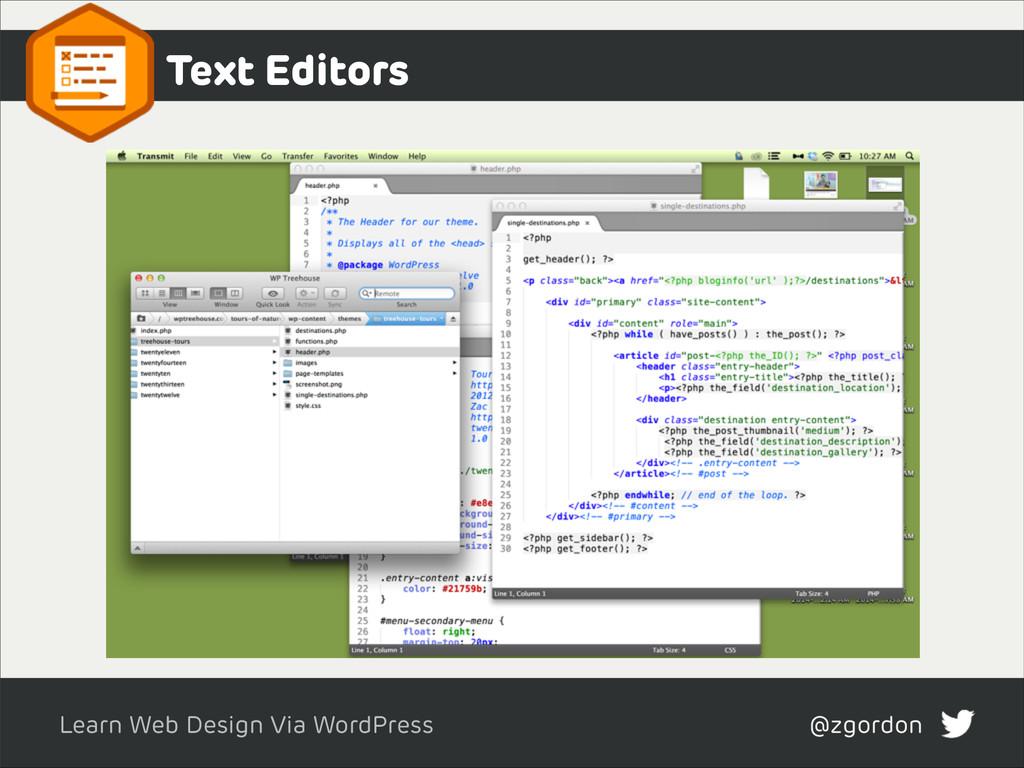 Learn Web Design Via WordPress @zgordon Text Ed...