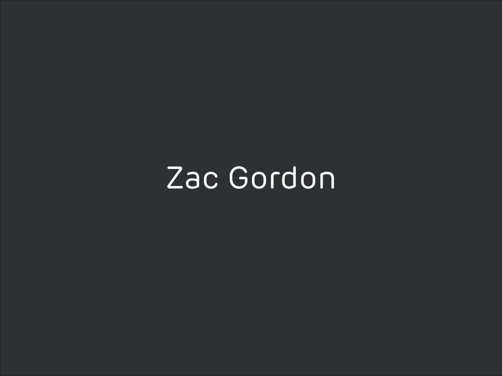 Zac Gordon