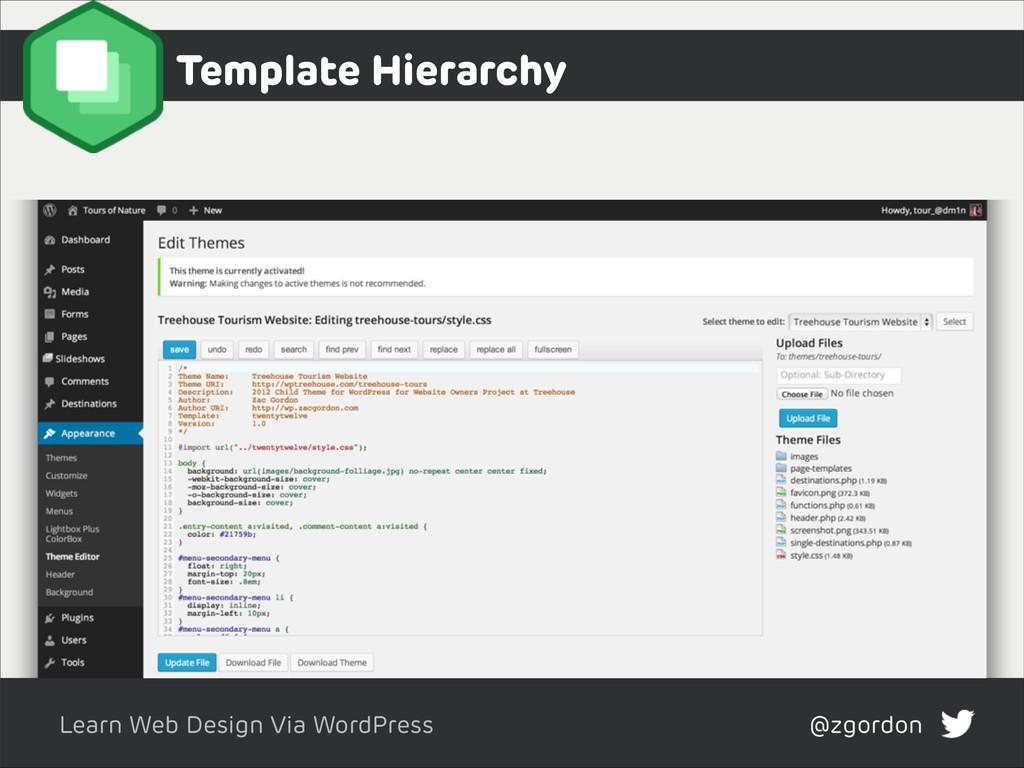 Learn Web Design Via WordPress @zgordon Templat...